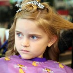 Sofia getting hair done