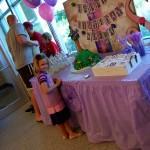 Sofia with cake